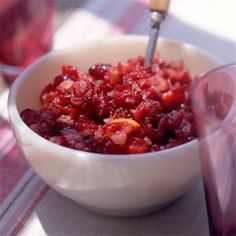 Cranberry-Orange Relish - this is an excellent recipe; it goes really well on a turkey and cream cheese sandwich too