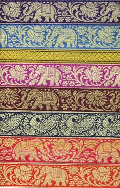 Dope😚 could be used as a phone wallpaper😂💖 Textiles, Textile Patterns, Textile Prints, Textile Design, Print Patterns, Elephant Love, Elephant Art, Indian Elephant, Colorful Elephant