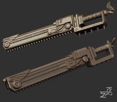 Bing Bong, Sci Fi Weapons, Cos Play, Space Marine, Knives And Swords, Cosplay Ideas, Chainsaw, Warhammer 40k, Guns