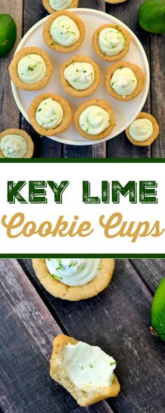 Key Lime Cookie Cups