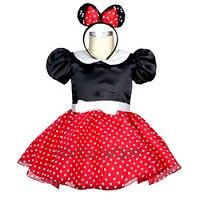 Minnie Mouse Costume with Ears and Mini Skirt