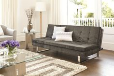 Rhodes Sofa Bed Charcoal -Fabric