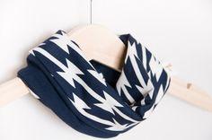 Baby scarf bib in Navy blue. Baby gift. Baby infinity scarf look.  Heavy drooler bib. 100% cotton. Baby, teen, adult. Marine blue