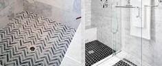 Porcelain tile trends for bathrooms shower tiles that have lost color gray pebble tile shower floor scenic 10 shower tile ideas that make a splash [. Ceramic Tile Bathrooms, Bathroom Tile Designs, Bathroom Interior Design, Bathtub Tile, Shower Floor Tile, Shower Niche, Shower Pan, Shower Tile Patterns, Best Bathroom Flooring