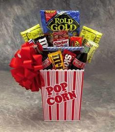 Family movie night basket that our school will raffle off during ...