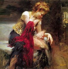 """""""Anticipation"""" by Pino Daeni. We have this glicee, just beautiful!"""