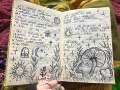 Cool Art Drawings, Art Drawings Sketches, Art Journal Inspiration, Art Inspo, Arte Grunge, Art Diary, Arte Sketchbook, Funky Art, Hippie Art
