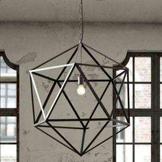 Diamond Himmeli Light Pendant Geometric Silver Mini By Panselinos 105 00 Smaller Version