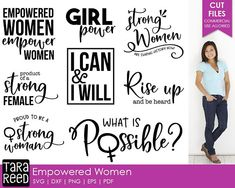 Empowered Women svg / strong women svg / women svg / woman quotes / svg files / svg for cricut / svg for silhouette / woman empowerment