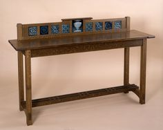 custom arts and crafts furniture|handmade New England sideboard|tiles