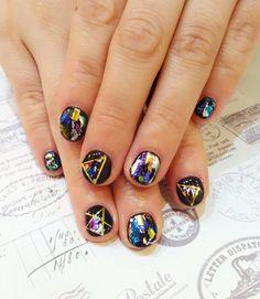 """""""Rock&roll """"nail art www.facebook.com/ELEGANCENAILSHOP"""