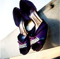 adorable purple shoes!
