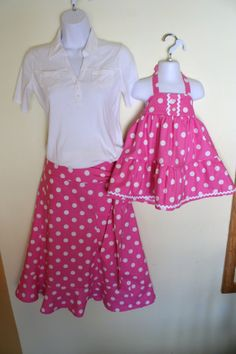 Mother Daughter Matching Clothing, Custom Order Mommy and Me Skirts, Mother and Daughter Skirts