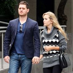 Michael Bublé and his wife, Luisana Lopilato, met up with a friend for lunch in Buenos Aires yesterday. They grabbed a bite to eat at Osaka Japanese restaurant and later checked out the Museum of Latin American Art during their outing in Luisana's