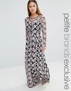 True Decadence Petite All Over Embroidered Contrast Lace Maxi Dress at asos .com 6fa61d24d