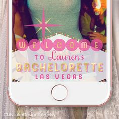 Personalized Bachelorette Party Snapchat Geofilter | Customized Las Vegas Geofilter | Bridal Shower, Engagement, Birthday Party | Last Fling