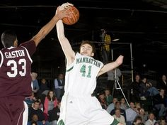 """The Story of Kevin Laue, 6' 10"""" center from the Manhatten Jaspers...the first one-armed athlete to play for a Division I college basketball team"""