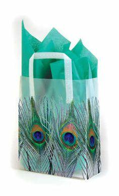peacock gift bag - 55p each