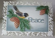 Baukje's Cards and Crafts: Spellbinders Holly Frame