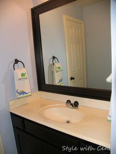 We Just Completed The Refurb On Our Upstairs Bathroom. We Used Baseboard  And Rust Oleum Oil Rubbed Bronze Spray Paint .