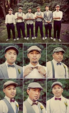 mixing groomsmen's attire by tracey