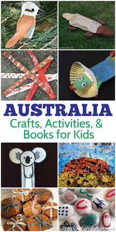 Australia Activities for Kids: Crafts, Books, and Fun – Creative Family Fun Learn all about Australian landmarks, culture, and food Arts And Crafts For Adults, Easy Arts And Crafts, Crafts For Girls, Around The World Crafts For Kids, Australia For Kids, Australia Crafts, Visit Australia, Art And Craft Videos, Craft Activities