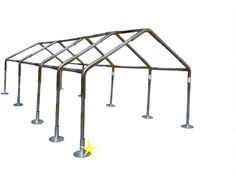 18x40' Carport Canopy Fittings Kit 1-3/8 RV Boat Tent Shade w/o Leg & Roof Pipes #Unbranded #CarportComboKit