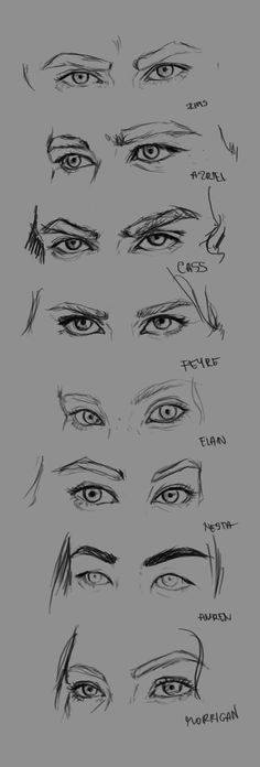 Characters eyes