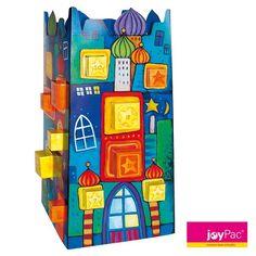 #Adventskalender MAGIC TOWER von #joyPac® ● Mit diesem #Basteladventskalender im attraktiven #Künstlerdesign können Sie Ihren Liebsten die #Weihnachtszeit täglich mit einem kleinen #Geschenk versüßen! ● Bestehend aus 8 Schachteln der Größe 5x5x5 cm und 16 Schachteln mit einer Größe von 4x4x4 cm. ● Wiederverwendbar. ● Aufgestelltes Format: 24 X 24 X 49 cm ● #Wellpappe, #Karton, #Kreativ, #Advent