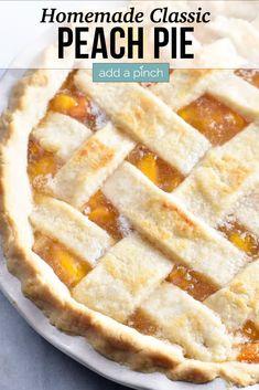 Fresh Peach Pie, Peach Pie Recipes, Tea Recipes, Recipies, Peach Pie Filling, Southern Peach Cobbler Recipe With Pie Crust, Fruit Pie, Dessert Recipes, Desserts