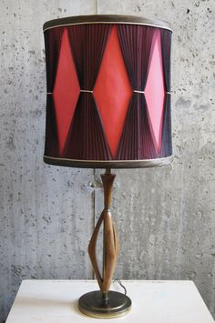 MidCentury Danish Teak Lamp/Shade by stukinmidcentury on Etsy, $60.00