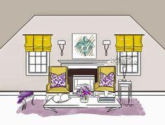 #art #picture #yellow #brodskaya #b_design #livingroom #decor #design #interior #sketch #violetdecor #home #интерьер #дизайн #декор #желтый #гостиная #эскиз #набросок #рисунок #ярисую #фиолетовый #комната