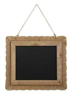 """19-1/2""""L x 17-3/4""""L Wood Framed Chalkboard w/ Jute Hanger"""