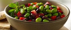 Relish this balsamic vinaigrette flavored edamame, Progresso® black beans and veggie salad – ready in 20 minutes.