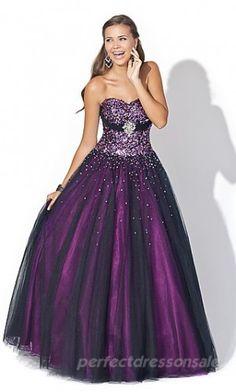 Beautiful royal purple prom dress