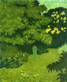 Pierre Bonnard - Woman in a Green Dress in a Garden