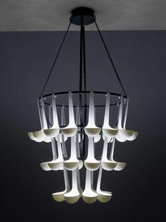 Ladle pendant suitable for restaurants' interior (Ursule light by Elise Gabriel)