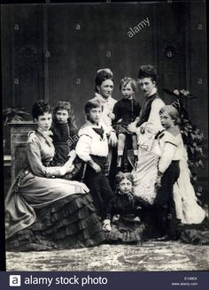 2012 - In Victoria's Reign. The Princess of Wales with her mother, sister, and children. Alexandra wife of Edward (later King Edward VII) daughter of King Queen Victoria Family, Victoria Reign, Prince And Princess, Princess Of Wales, Princess Alexandra Of Denmark, Christian Ix, Maria Feodorovna, King Edward Vii, Young Prince