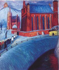 Marianne von Werefkin - Saint Anne's Church in Vilnius (1913)