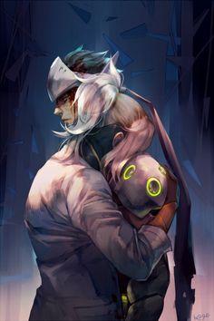 Genji x Mercy. I'm still trying to decide if i prefer this or 76 x Mercy.