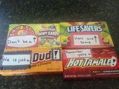 DIY Break up kit candy ideas