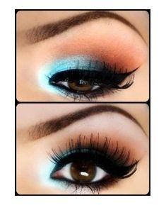 Teal eyeshadow