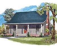 Plan W51020MM: Cottage Home Plan with Many Options 950 sf. Optional basement.