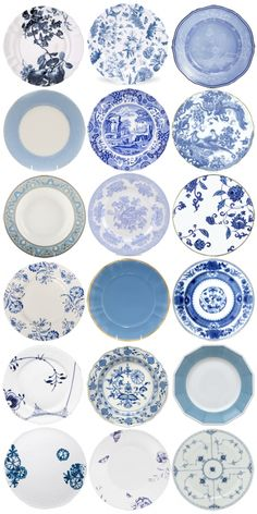 Blue And White Plates Like Noni S Dishes