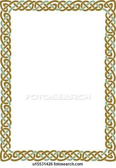 Celtic knot border for invites Celtic Patterns, Celtic Designs, Cross Stitch Patterns, Witch Coloring Pages, Colouring Pics, Borders For Paper, Borders And Frames, Celtic Knot Tattoo, Celtic Knots