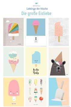 9 wunderschöne Eisprints für das Kinderzimmer. Hier erfährst du, wo du sie kaufen kannst!