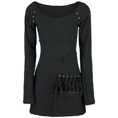 Longsleeve with Inside-Out seams, studs and lacing on the side.