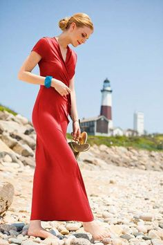 Maxi Wrap Elizabeth Islands Dress from the Lighthouse Collection by Shabby Apple