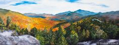 Karissa Viebeck Art. Adirondack Autumn Print from Original Painting $60.00.