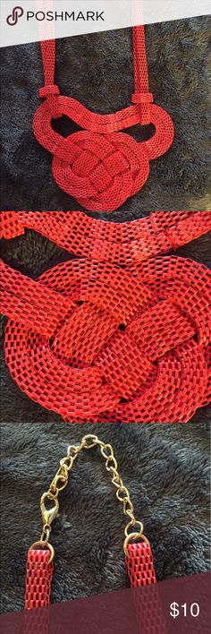 Selling this Sassy Woven Red Necklace on Poshmark! My username is: akdbenz1. #shopmycloset #poshmark #fashion #shopping #style #forsale #Jewelry